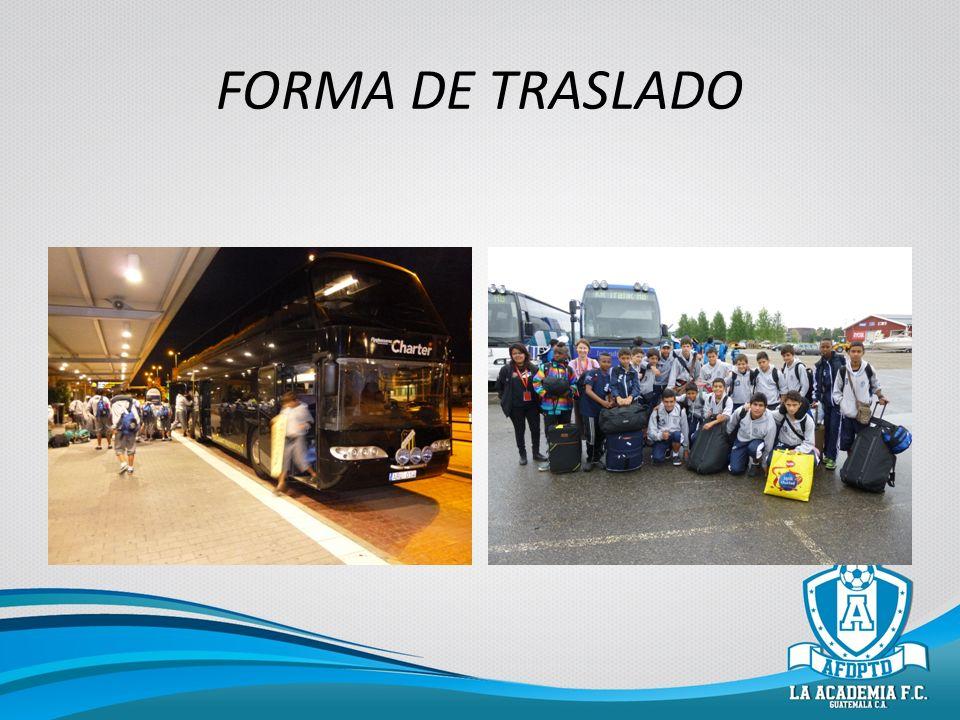 FORMA DE TRASLADO