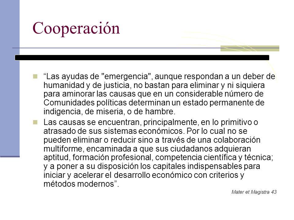 Cooperación Las ayudas de