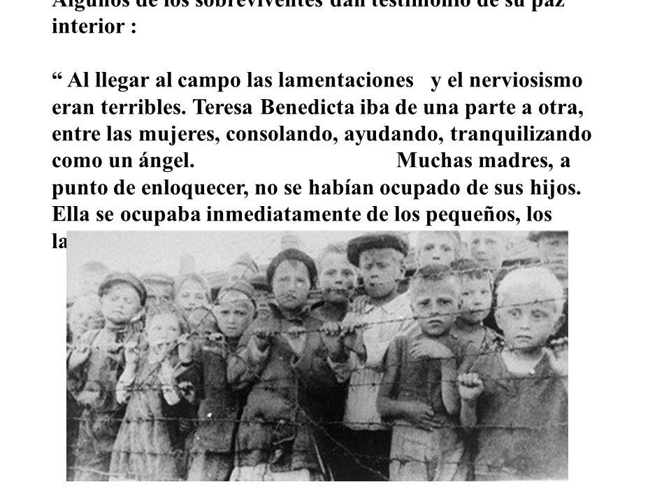 El 2 de agosto del año 1942, miembros de la S.S. se presentan en el convento y apresan a la Hna Teresa Benedicta y a su hermana Rosa para conducirlas