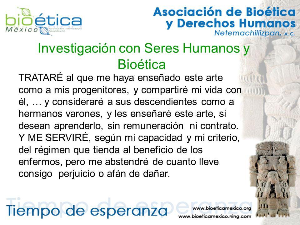 Investigación con Seres Humanos y Bioética Un caso especial resulta la participación de sujetos vulnerables.