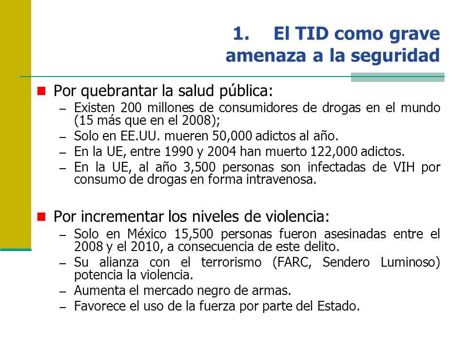 País de Acopio y Exportación: México Además, México es el segundo mayor productor de marihuana del mundo (Europa: 9 millones de consumidores; España ocupa el segundo lugar con 3 millones de usuarios) y el tercero de heroína (Europa: 4 millones de consumidores; España ocupa el quinto lugar con 121,000 usuarios).