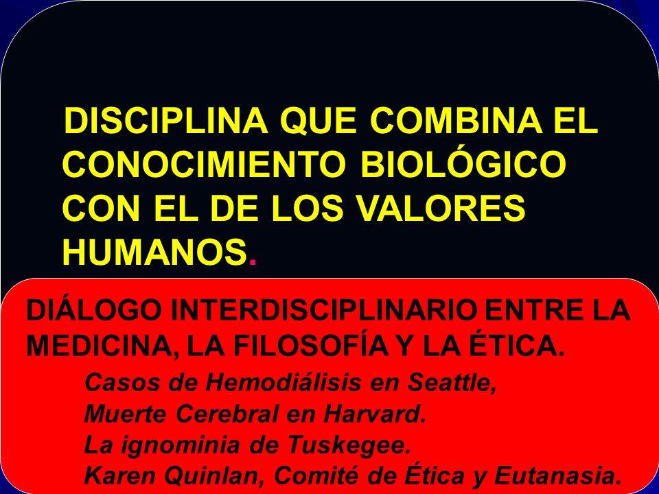 CONCEPTO DE BIOÉTICA ESTUDIO SISTEMÁTICO DE LA CONDUCTA HUMANA EN EL CAMPO DE CIENCIAS DE LA VIDA Y DEL CUIDADO DE LA SALUD.