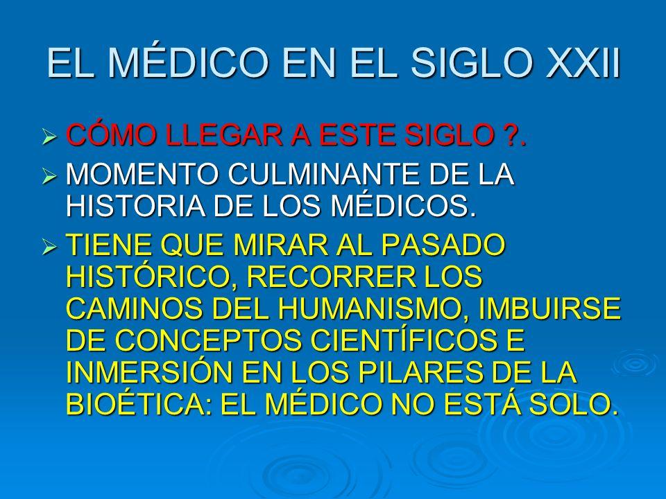 EL MÉDICO EN EL SIGLO XXII CÓMO LLEGAR A ESTE SIGLO ?.