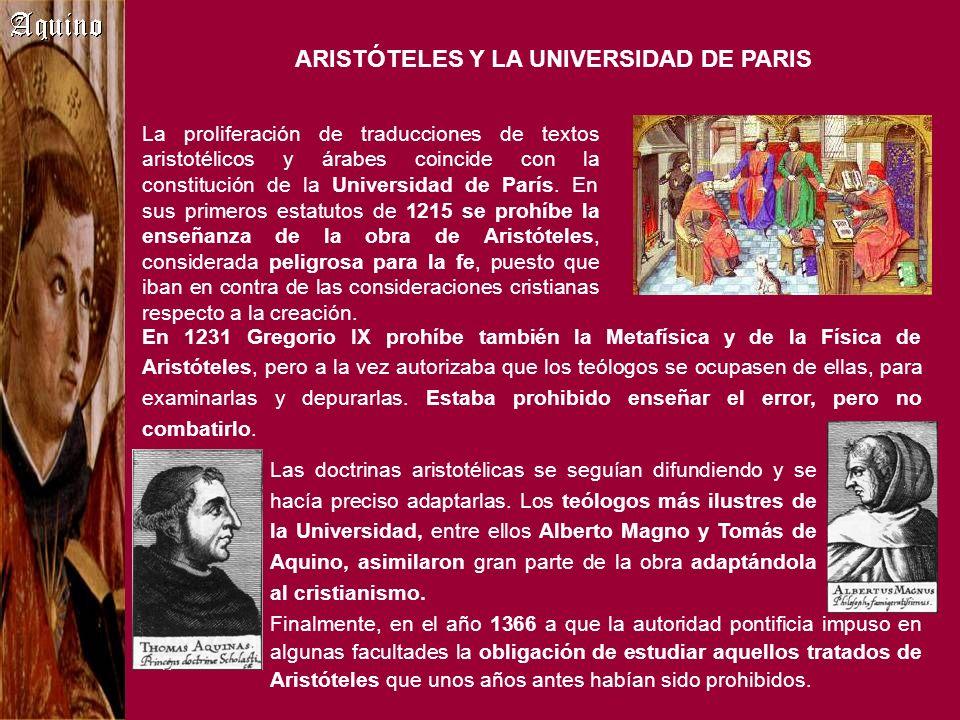 Finalmente, en el año 1366 a que la autoridad pontificia impuso en algunas facultades la obligación de estudiar aquellos tratados de Aristóteles que u