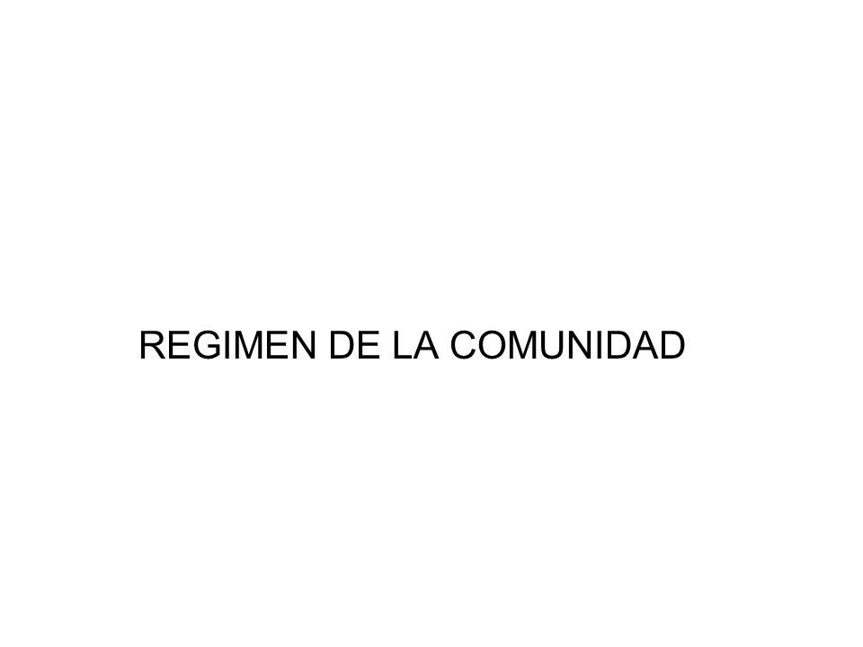REGIMEN DE LA COMUNIDAD