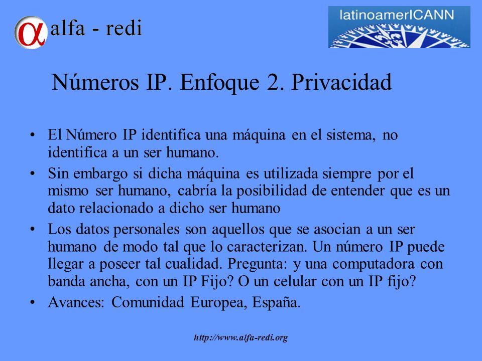 http://www.alfa-redi.org Números IP. Enfoque 2.
