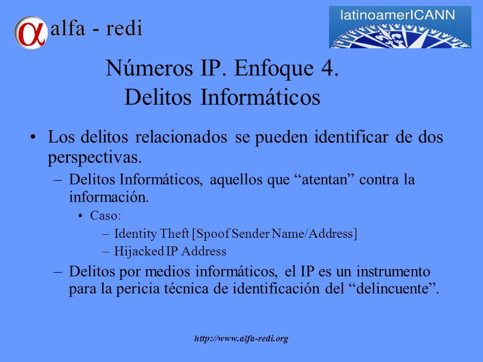http://www.alfa-redi.org Números IP. Enfoque 4.