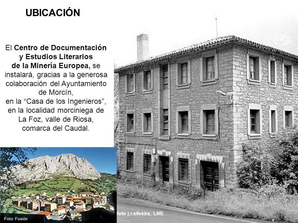 foto j.r.silveira, LNE UBICACIÓN Foto: Fusión El Centro de Documentación y Estudios Literarios de la Minería Europea, se instalará, gracias a la gener