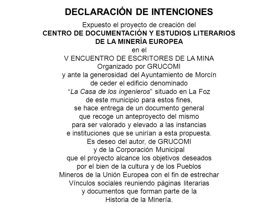 Expuesto el proyecto de creación del CENTRO DE DOCUMENTACIÓN Y ESTUDIOS LITERARIOS DE LA MINERÍA EUROPEA en el V ENCUENTRO DE ESCRITORES DE LA MINA Or