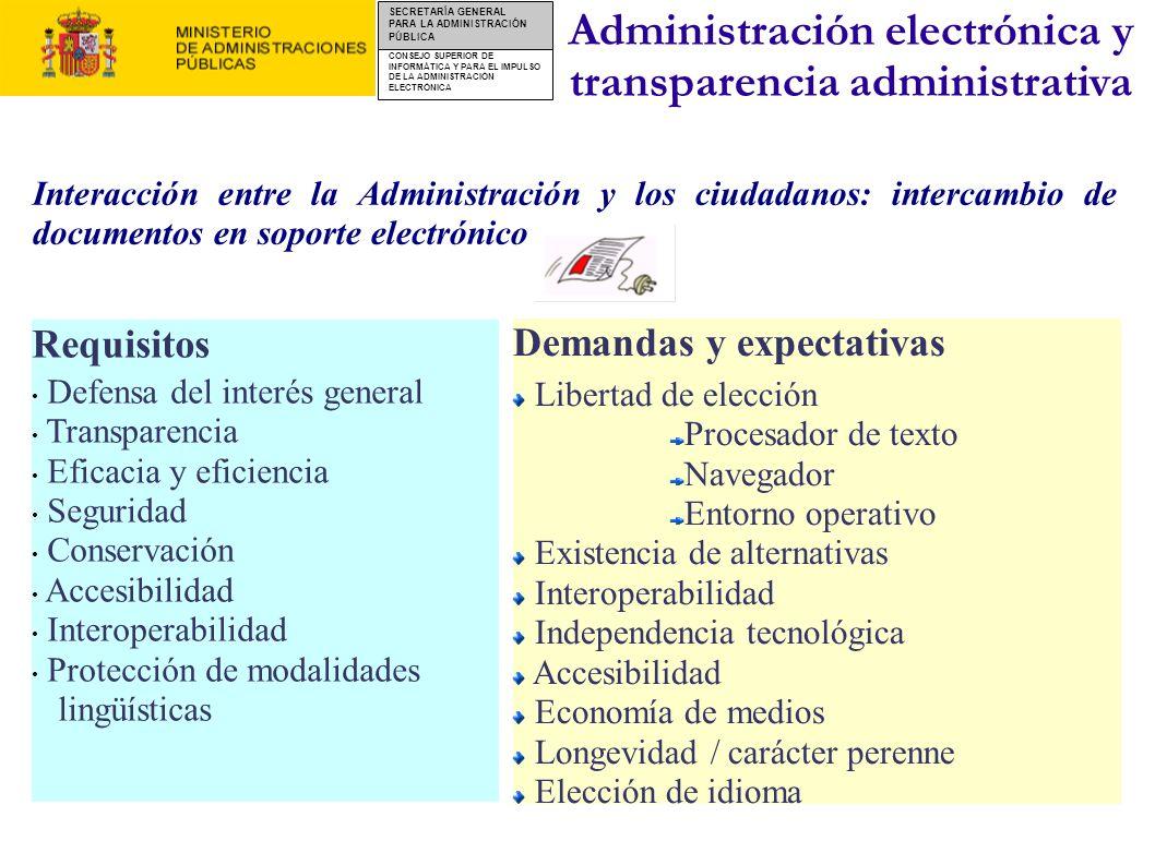 CONSEJO SUPERIOR DE INFORMÁTICA Y PARA EL IMPULSO DE LA ADMINISTRACIÓN ELECTRÓNICA SECRETARÍA GENERAL PARA LA ADMINISTRACIÓN PÚBLICA Requisitos Defens