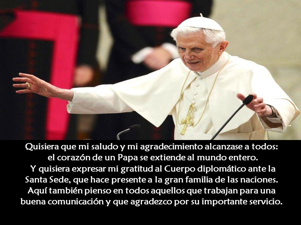 pero también he querido a todos y a cada uno, sin distinción, con aquella caridad pastoral que da el corazón de Pastor, sobre todo de Obispo de Roma,
