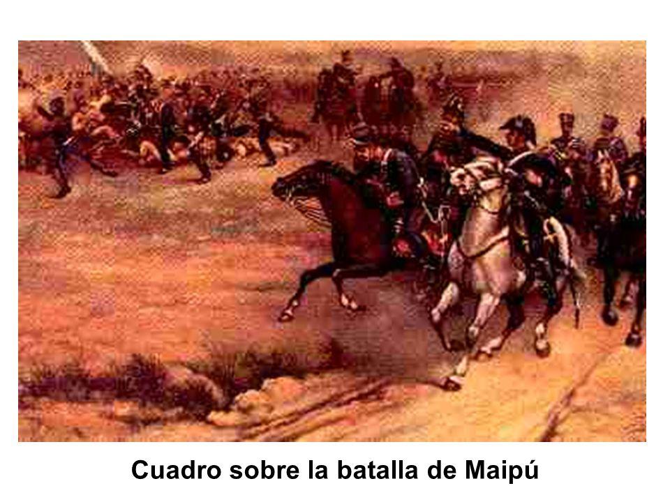 Cuadro sobre la batalla de Maipú