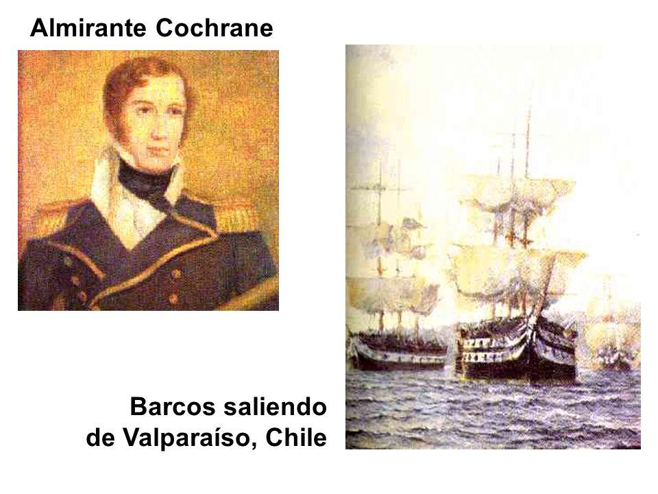 Barcos saliendo de Valparaíso, Chile Almirante Cochrane