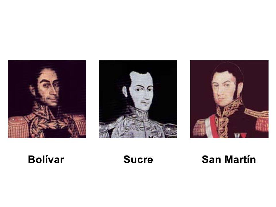 BolívarSucreSan Martín