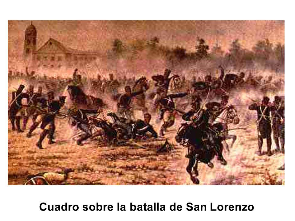 Cuadro sobre la batalla de San Lorenzo