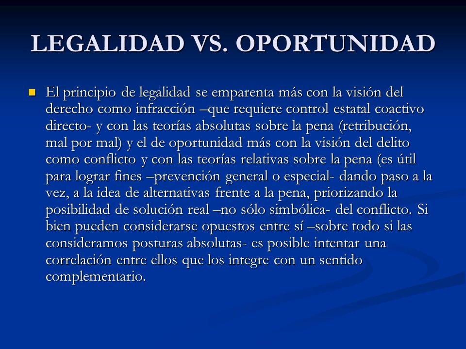 LEGALIDAD VS.