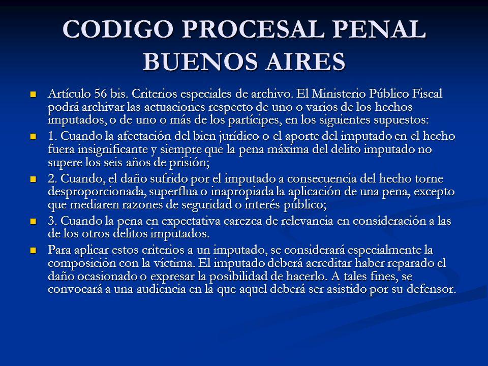 CODIGO PROCESAL PENAL BUENOS AIRES Artículo 56 bis.