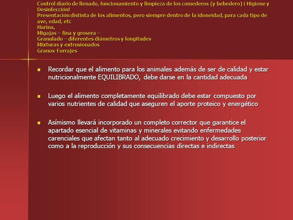 RESUMEN BÁSICO CONSENCUENCIAS DEL AGUA DE BEBIDA INADECUADA AVICULTURA BACTERIAS: BACTERIAS: Diarreas Diarreas Problemas Respiratorios Problemas Respiratorios Problemas de Patas Problemas de Patas PH Y ºTH BAJOS PH Y ºTH BAJOS Fragilidad de Cáscaras Fragilidad de Cáscaras Camas húmedas Camas húmedas NITRATOS NITRATOS Problemas digestivos Problemas digestivos Descenso peso de huevos Descenso peso de huevos Crecimiento relentizado Crecimiento relentizado HIERRO HIERRO Obstrucción de conducciones Obstrucción de conducciones