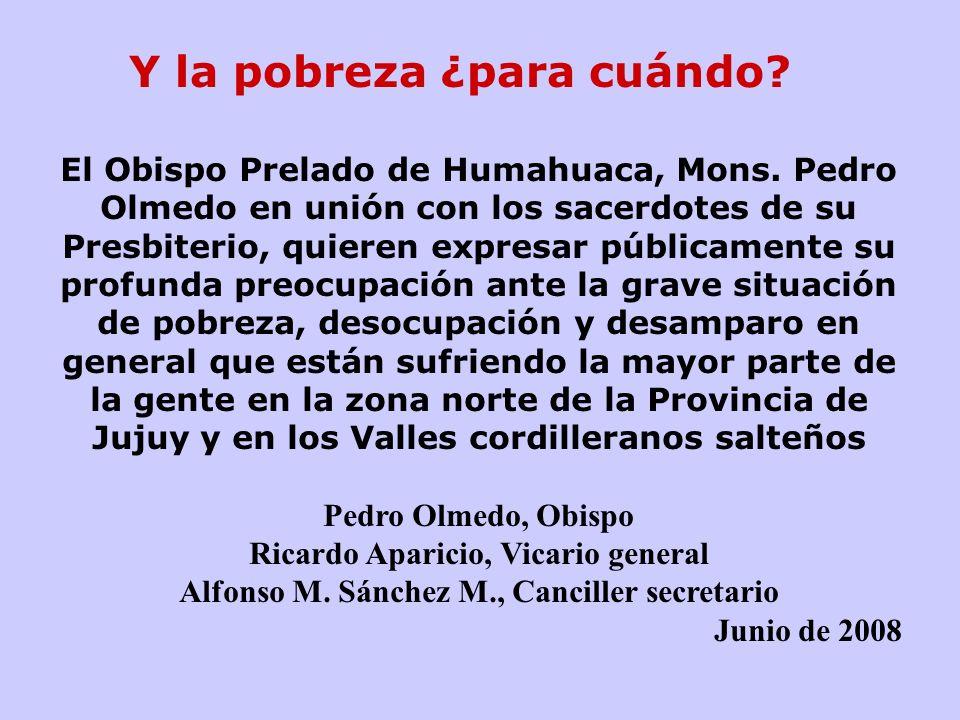El Obispo Prelado de Humahuaca, Mons.