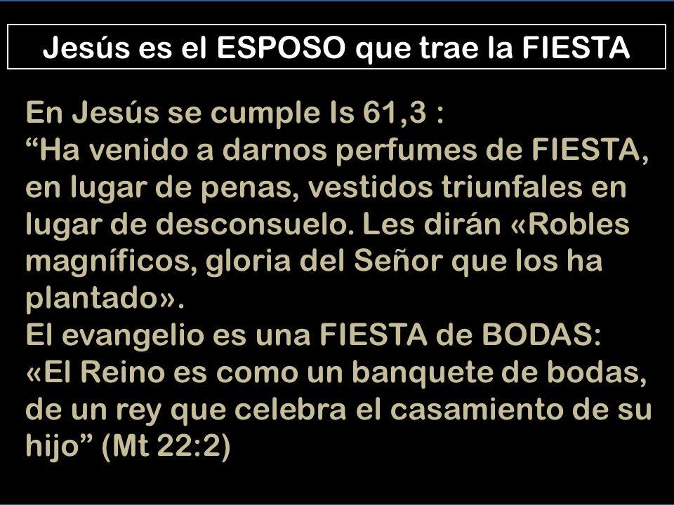 Jesús ESPOSO A ti te diran «Yo la quiero», y a tu tierra, «Tiene marido», porqué el Señor te ama Is 62,4 La mirada fija en Jesús