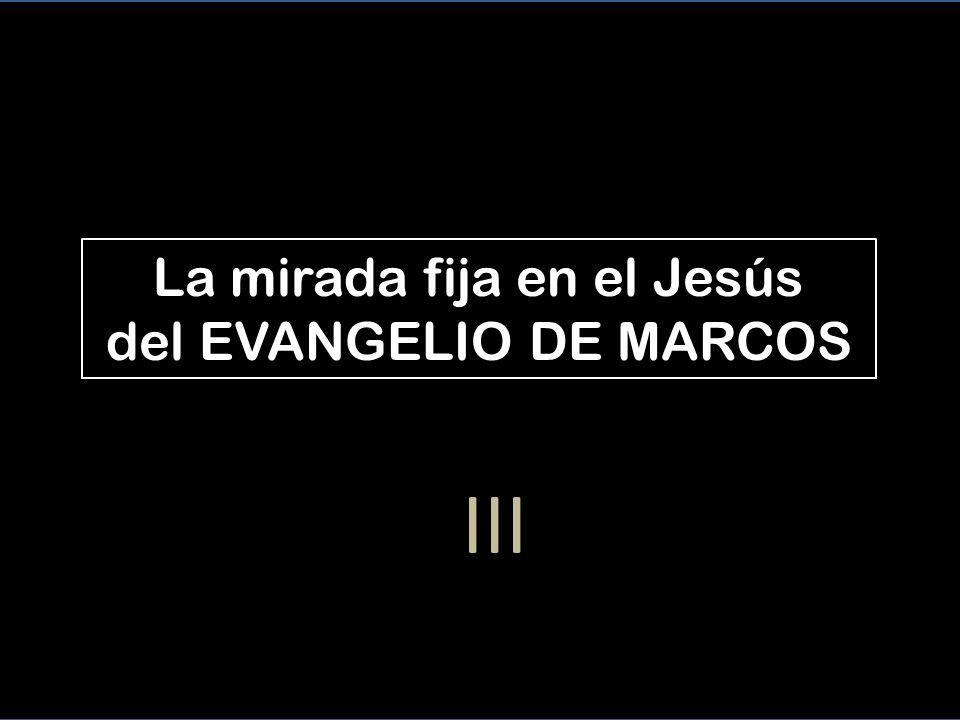 La mirada fija en el Jesús del EVANGELIO DE MARCOS III