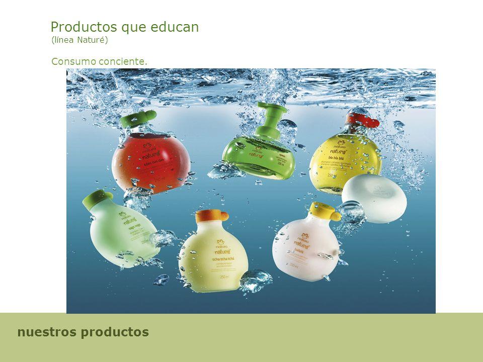 Productos que educan (línea Naturé) Consumo conciente. nuestros productos