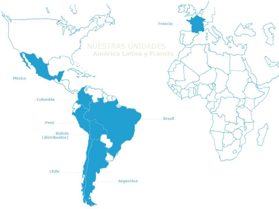 Perú Chile Argentina Brasil Francia México Colombia Bolívia (distribuidor) América Latina y Francia NUESTRAS UNIDADES
