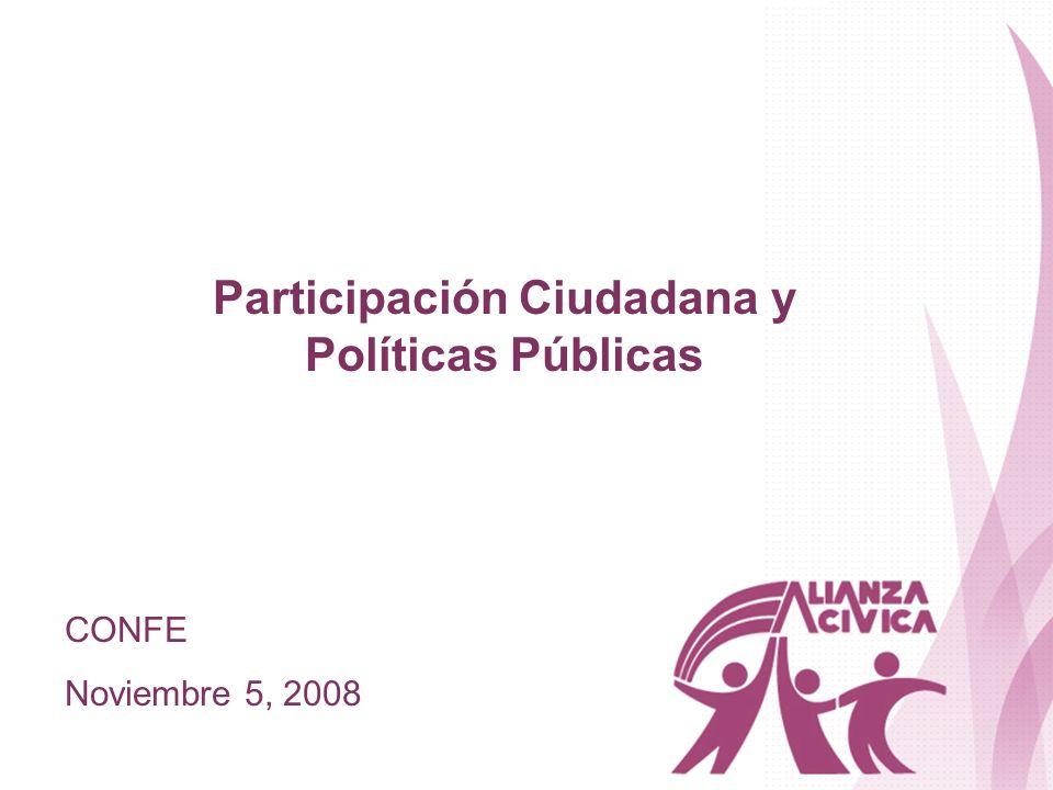 Participación Ciudadana y Políticas Públicas CONFE Noviembre 5, 2008
