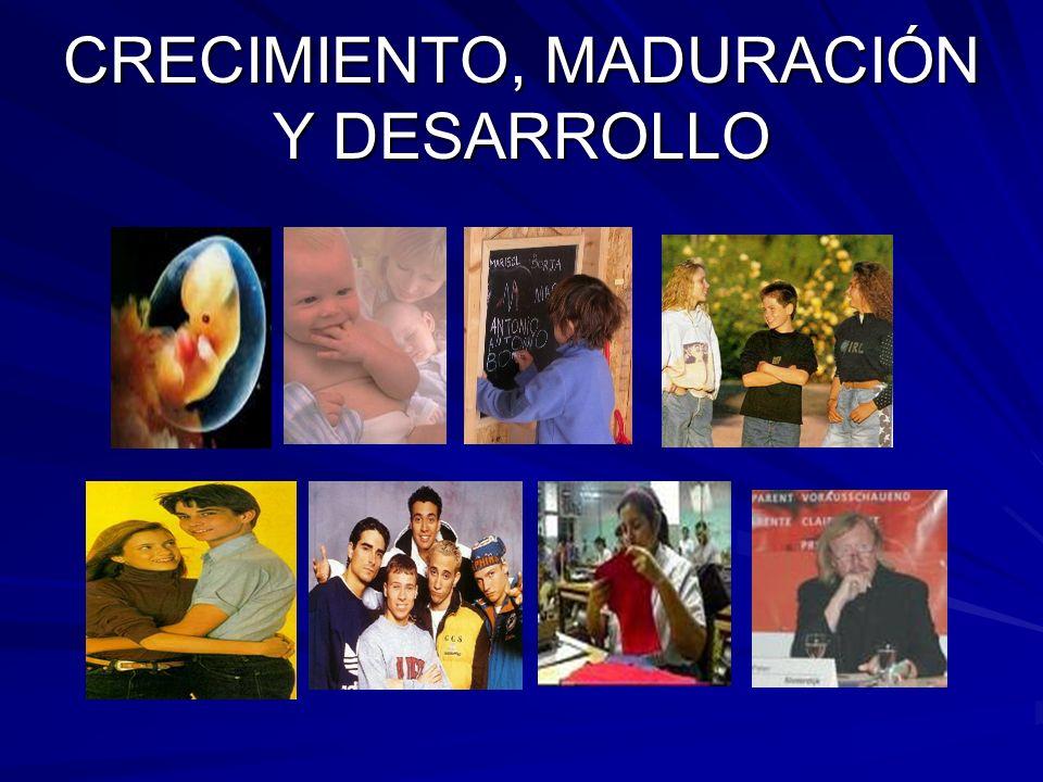CRECIMIENTO, MADURACIÓN Y DESARROLLO