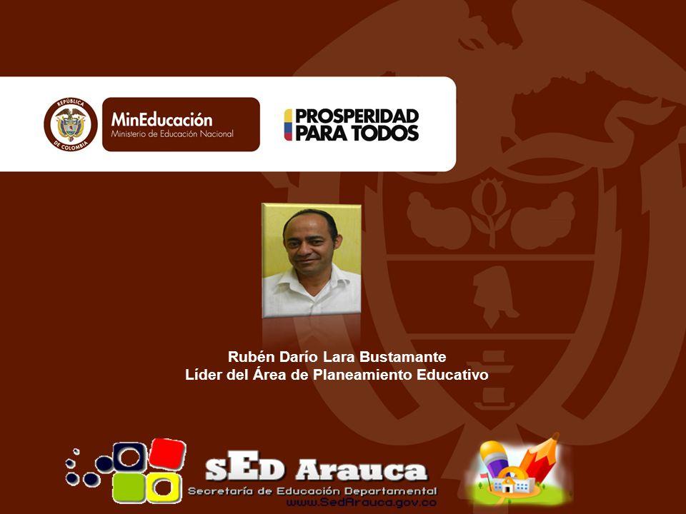 Rubén Darío Lara Bustamante Líder del Área de Planeamiento Educativo