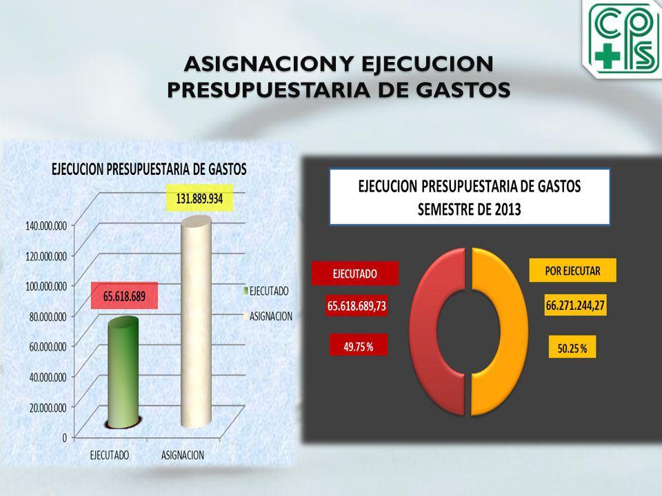 ASIGNACION Y EJECUCION PRESUPUESTARIA DE GASTOS