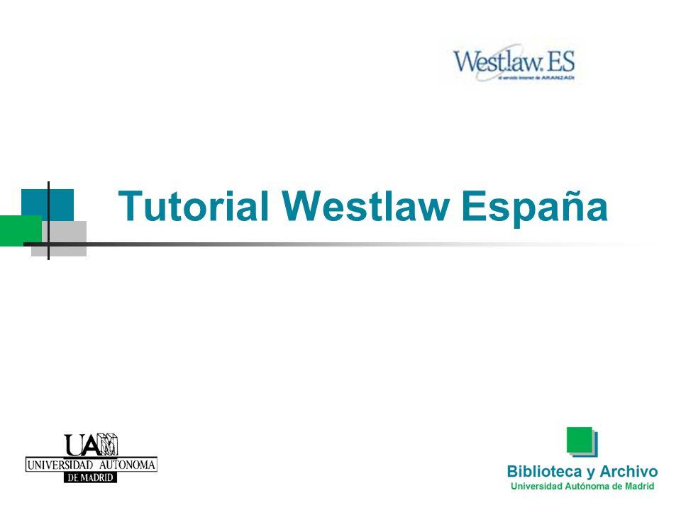 Tutorial Westlaw España