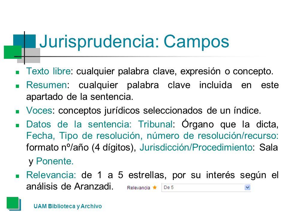Jurisprudencia: Campos Texto libre: cualquier palabra clave, expresión o concepto.