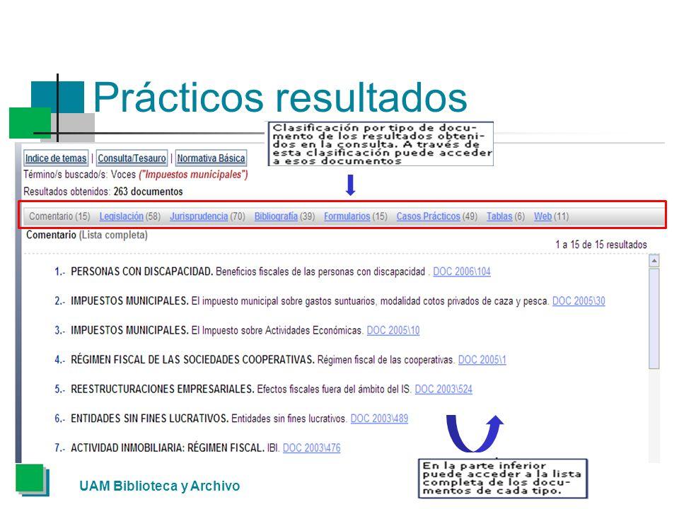 Prácticos resultados UAM Biblioteca y Archivo