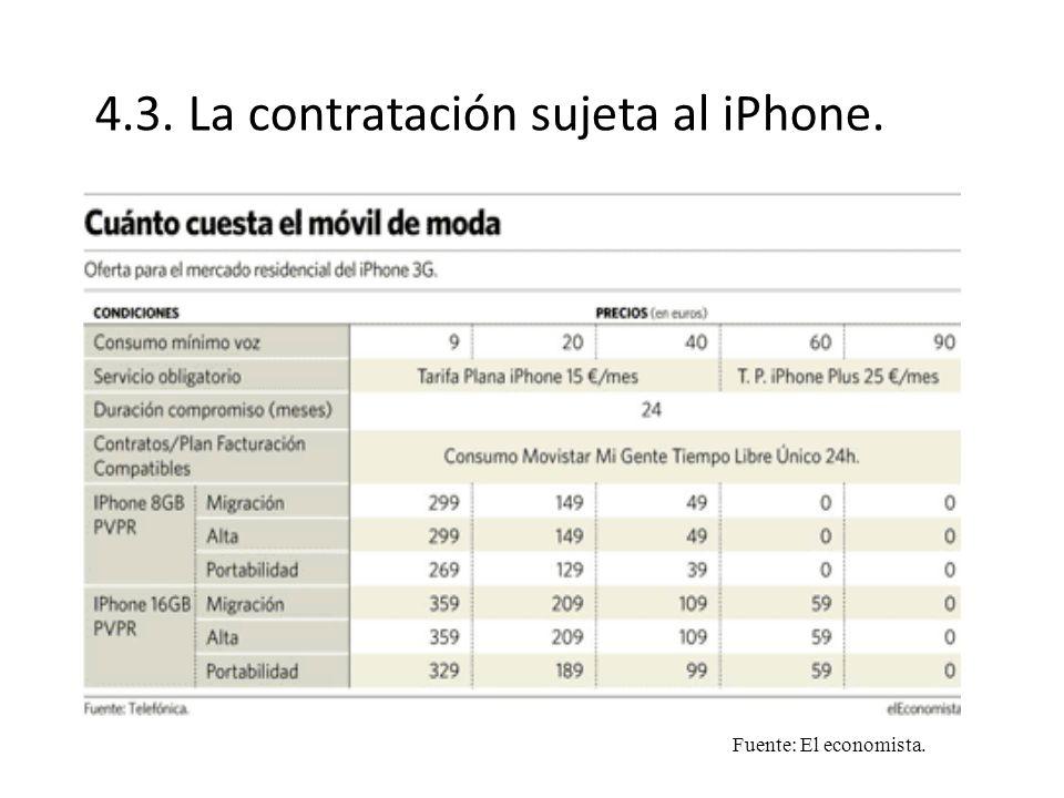 4.3. La contratación sujeta al iPhone. Fuente: El economista.