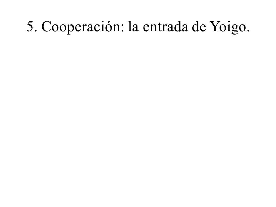 5. Cooperación: la entrada de Yoigo.