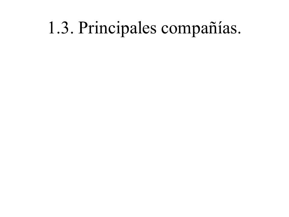 1.3. Principales compañías.