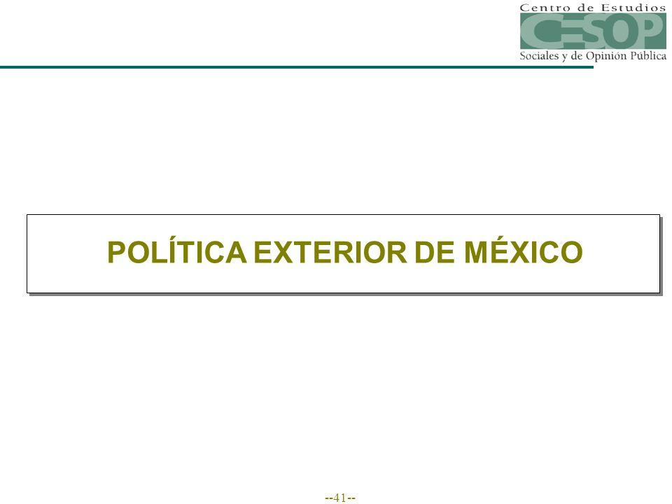 --41-- POLÍTICA EXTERIOR DE MÉXICO