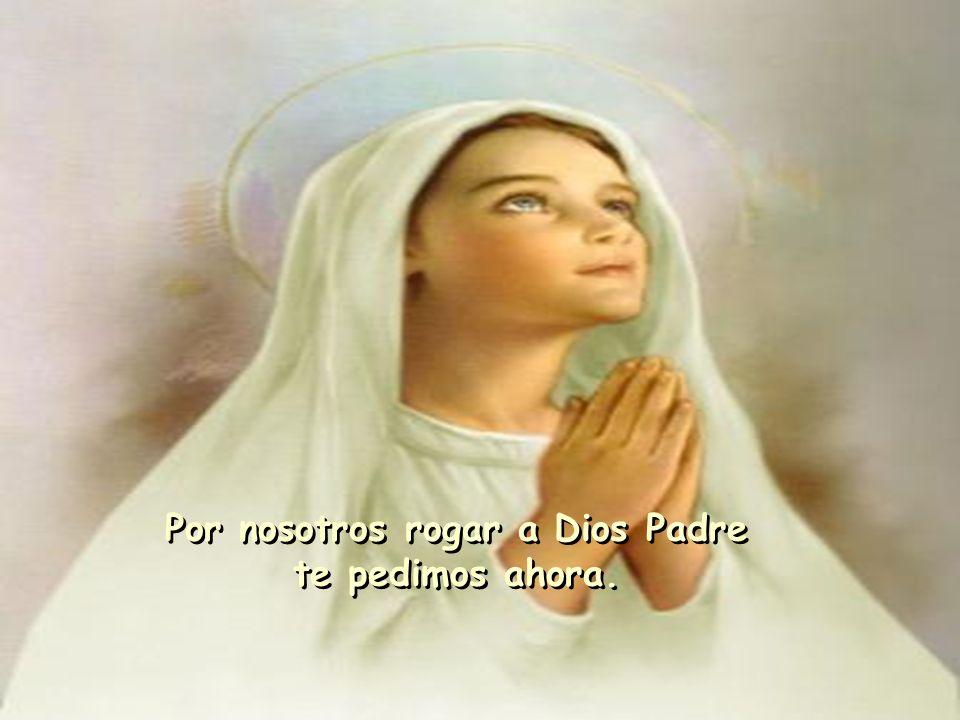 Por nosotros rogar a Dios Padre te pedimos ahora. Por nosotros rogar a Dios Padre te pedimos ahora.