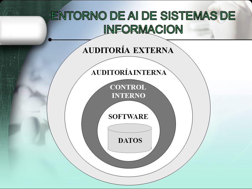 DATOS SOFTWARE CONTROL INTERNO AUDITORÍA INTERNA AUDITORÍA EXTERNA