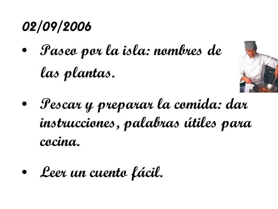 02/09/2006 Paseo por la isla: nombres de las plantas.