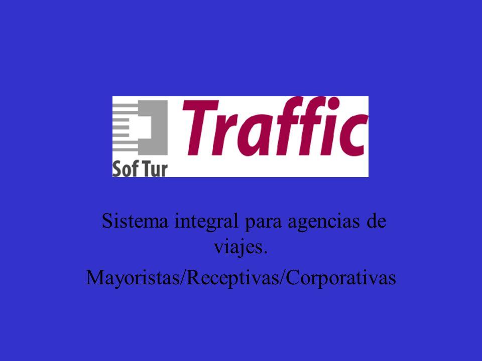 Sistema Traffic Sistema integral para agencias de viajes. Mayoristas/Receptivas/Corporativas