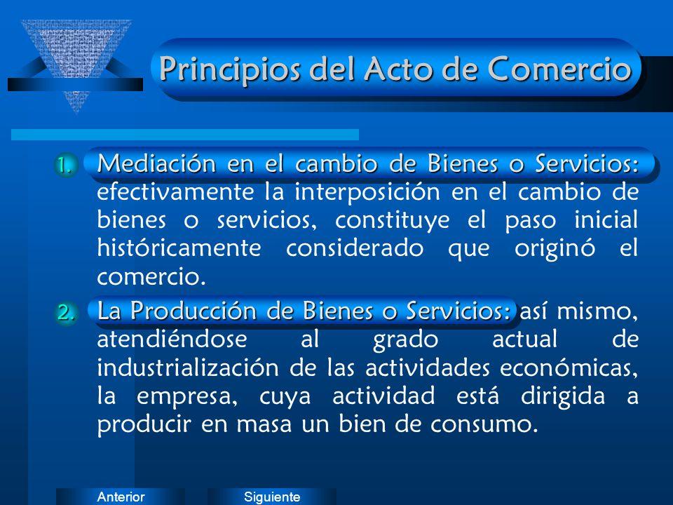SiguienteAnterior Principios del Acto de Comercio 1. Mediación en el cambio de Bienes o Servicios: 1. Mediación en el cambio de Bienes o Servicios: ef