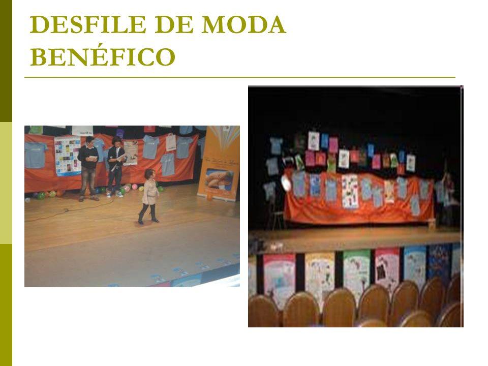 DESFILE DE MODA BENÉFICO