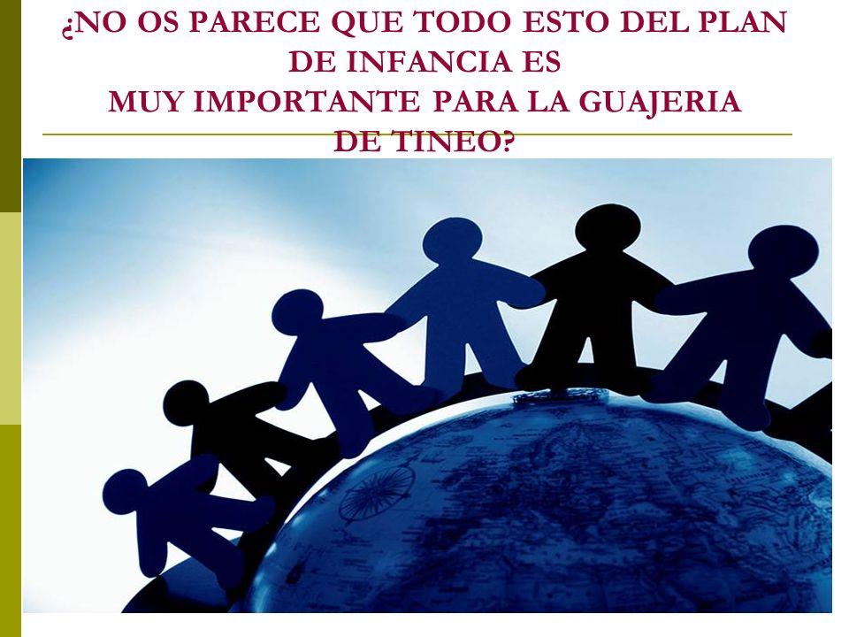 ¿NO OS PARECE QUE TODO ESTO DEL PLAN DE INFANCIA ES MUY IMPORTANTE PARA LA GUAJERIA DE TINEO?