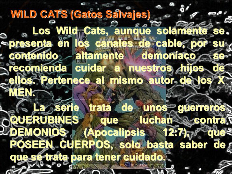 Los Wild Cats, aunque solamente se presenta en los canales de cable, por su contenido altamente demoníaco se recomienda cuidar a nuestros hijos de ell