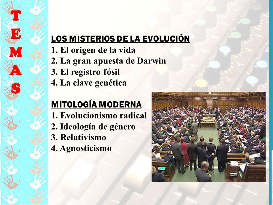 15 TEMASTEMAS LOS MISTERIOS DE LA EVOLUCIÓN 1.El origen de la vida 2.