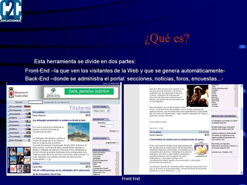 Creación de artículos Al igual que las tareas administrativas del portal, la edición de las noticias e imágenes es realizada remotamente por los usuarios redactores desde su interfaz web, sin necesidad de ningún software especial.