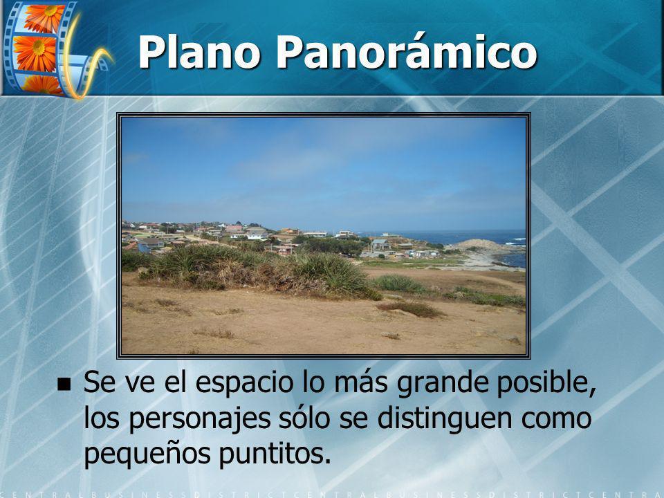 Plano Panorámico Se ve el espacio lo más grande posible, los personajes sólo se distinguen como pequeños puntitos.