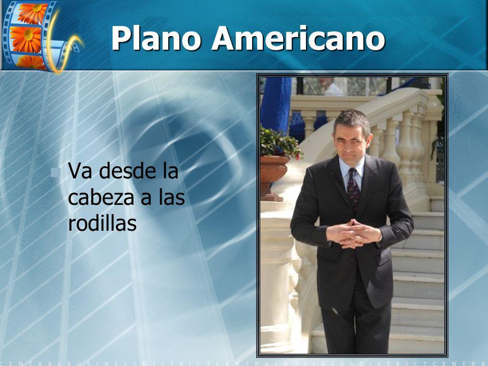 Plano Americano Va desde la cabeza a las rodillas